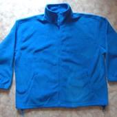 Реглан-кофта 56-58 флис голубая