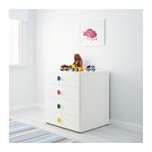 Комбинация для хранения с ящиками, белый, 60x50x64 см ikea икеа 591.805.27