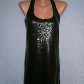 Шикарное платье майка с пайетками разм.С-М.