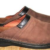 кожаные сабо тапочки 26,5 см