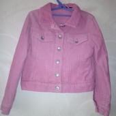 Вельветовая курточка-пиджак с утеплителем