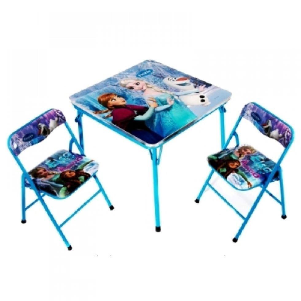 Раскладной стол и 2 стула фото №1