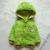 Яркая демисезонная куртка для мальчика. Albimini. Размер 6-9 месяцев. Состояние: хорошее
