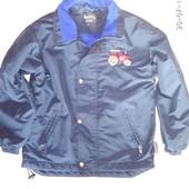 Деми куртка, ветровка на флисе на 6 -8 лет