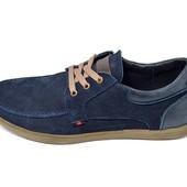 Распродажа!!! Мокасины мужские нубук Multi-Shoes Dynamic Flax синие