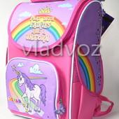 Школьный каркасный рюкзак для девочек Пони Единорог Smile 3473