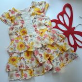 Платье в цветы Matalan (9-12 мес)-
