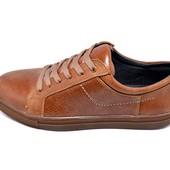 Кеды мужские кожа Multi-Shoes Salvin рыжие