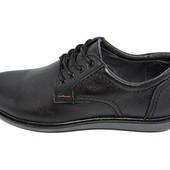 Туфли подростковые кожа Multi-Shoes Footwear Ray черные