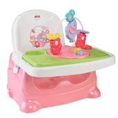 Fisher-Price Детский стульчик для кормления бустер розовый слоник pretty in pink booster seat, eleph