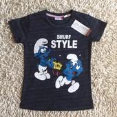 Новая футболочка Outfit со Смурфами на 3-4 года