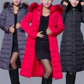 пуховик женский удлиненный ХИТ-продаж 2017 года куртка женская пальто- парка- сникерсы ботинки термо