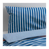 Комплект постельного белья, темно-синий, Икея  402.563.91