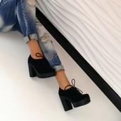 Закрытые туфли на устойчивом каблуке