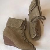 женские ботинки ботильоны со шнуровкой 38