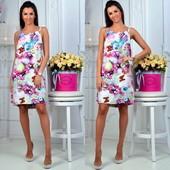 Летнее, стильное, легкое платье 42-46 и 46-50 (8н