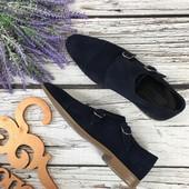 Замшевые туфли монки Asos в классическом дизайне с двойной пряжкой  SH3104