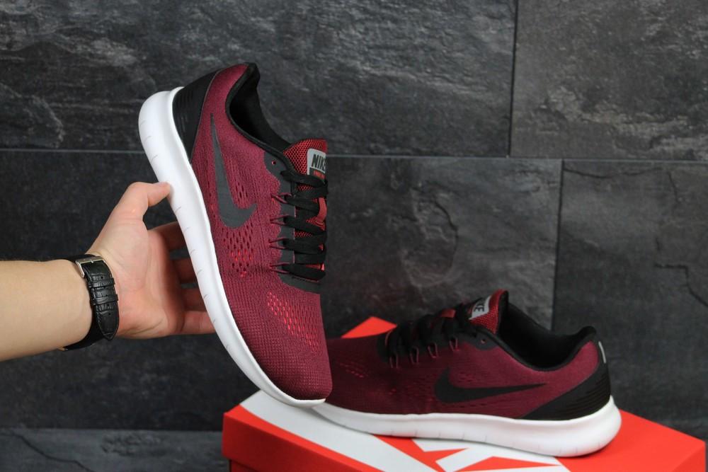 Кроссовки сетка Nike Free RN burgundy фото №1