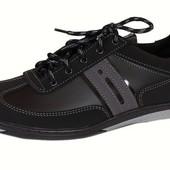 Мужские низкие туфли отличного качества (T24-grey)