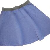Школьная юбка синяя юбка Zara 9-10 лет (талия 52-74, дл. 35)