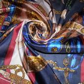 Дизайнерский платок 100% шелк hand rolled hand printed