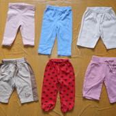 3-6 мес., фирменные штанишки, лосинки, спортивки, колготки
