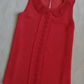 Шифоновая блуза с ажурным воротником Select, р.8
