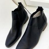 44 р Кожаные ботинки полусапожки Livergy  Германия