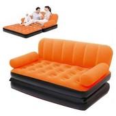 Надувной диван трансформер 5в1 Bestway 67356 велюр с электронасосом 220V