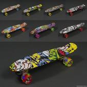 Пенни борд, скейт, скейтборд со светящимися колесами! Со светом