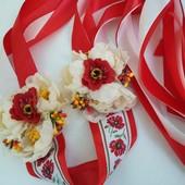 повязка очелье на голову в народном стиле с цветами