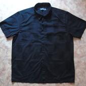 Черная рубашка с кор. рукавом 54 с узором