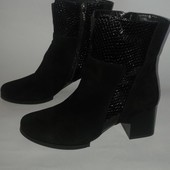 АКция!!! Замшевые ботинки натуральная кожа нові замшеві чобот