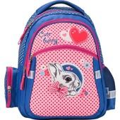 Кайт Kite Cute Bunny Рюкзак школьный  для девочки 1-4 кл