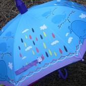 Новинка! Безопасный детский зонт для мальчика и девочки в складном пластиковом чехле!