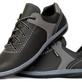 Спортивные мужские туфли демисезонные на шнуровку (КТ-26чср)