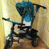 Велосипед с родительской ручкой Tilly trike на надувных колесах