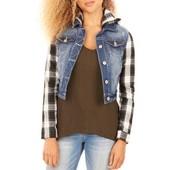 Джинсовая фирменная куртка с капюшоном Wallflower. Размер M, L.