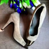 Новые нат.замша+кожа туфли Оригинал minelli Италия 37-38 размер