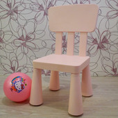 Детский стул от IKEA.Три цвета:розовый,голубой и зеленый
