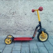 Трьохколісний самокат з надувним колесом