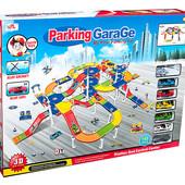 Паркинг 6 машин, вертолет, в коробке 63,5*9,0*47,0см