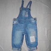 6-9 мес., р. 68-74 джинсовый ромпер полукомбинезон фирменный F&F