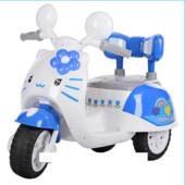 Детский мотоцикл 99118 A-4 на аккумуляторе, Hello Kitty, бело-голубой