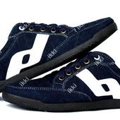 41 р Мужские джинсовые кроссовки синего цвета (БЛ-24сб)
