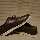Безукоризненные спортивные кожаные туфли коричневого цвета FFP Индия 9