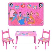 Детский столик со стульчиками «Disney Princess» Bambi M 1109