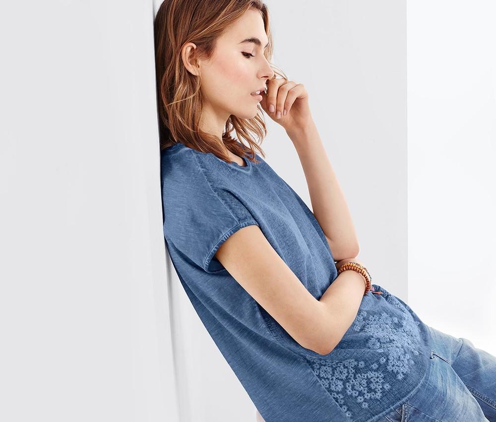 Крутая винтажная блуза футболка s, m тсм tchibo германия фото №1