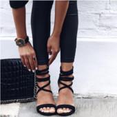 Стильные черные женские босоножки, размер 38, новые