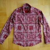 168-172 см Zen&Zen как новая бордовая рубашка хлопок. Длина - 69 см, ширина под руками 52 см, талия